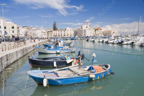 Fototapeta Boats moored in port. Trani.  Apulia.