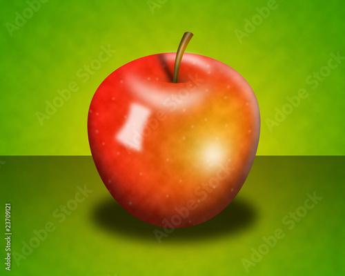 czerwone jabłuszko tło