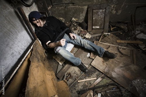 Photo  Man Using Drugs