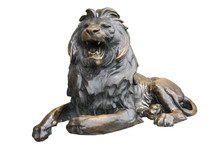 Copper Lion Sculpture