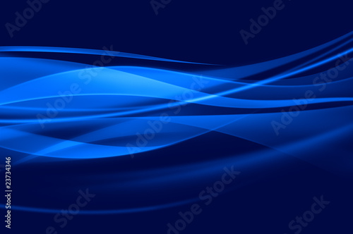 Fotografie, Obraz  Abstract blue background, wave or mesh texture