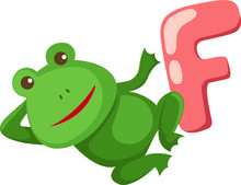 Alphabet  F For Frog