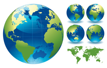 Fototapeta World Globe Maps