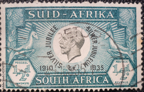 Fotografia  South Africa postage stamp dedicated to King George V
