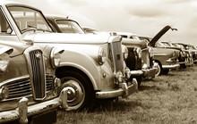 Classic Cars In Sepia