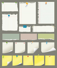 Vector Paper And Post-it Colle...