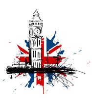 Royaume-Uni Big Ben Drapeau
