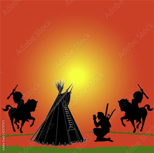 Poster Indiens wild west