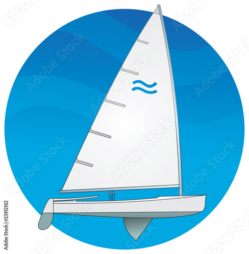 Fotografie, Obraz  Sailboat, Finn class