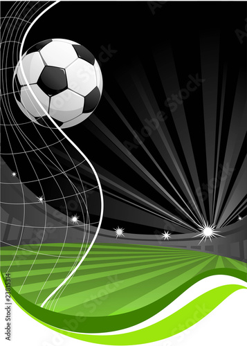 Photo  soccer game background