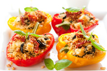 Stuffed Peppers With Couscous,...