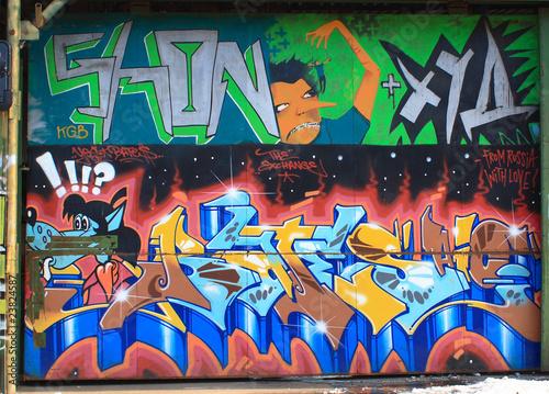 Foto op Aluminium Graffiti collage graffiti