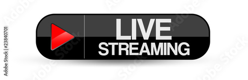 Fotografie, Tablou Live Streaming Button