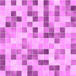 canvas print picture - Fuchsia bathroom tiles