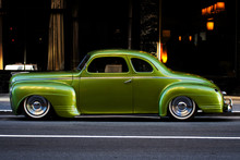 Green Plymouth Deluxe Coupe City