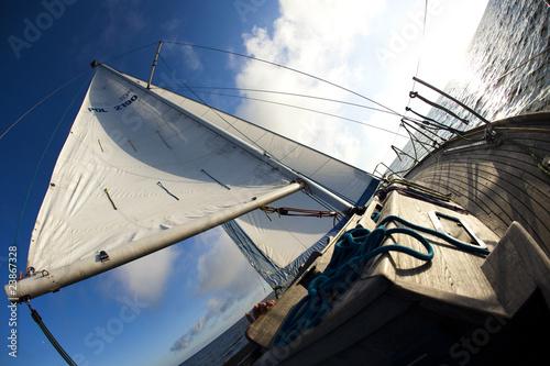 Canvas Prints Bridge Sailing