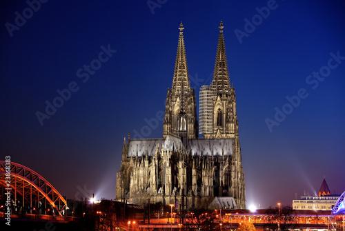 Foto-Lamellen (Lamellen ohne Schiene) - Kölner Dom bei Sonnenuntergang (von Guido Jakobs)