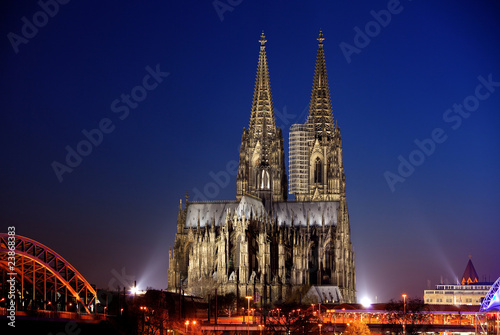 Foto-Kassettenrollo premium - Kölner Dom bei Sonnenuntergang