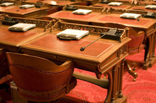 Desks In Capitol Chamber