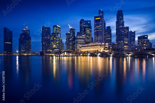 Foto op Canvas Singapore skyline von singapur