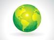 abstract green eco globe