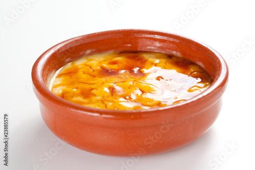 Fotomural crema catalana delicious typical Spanish dessert