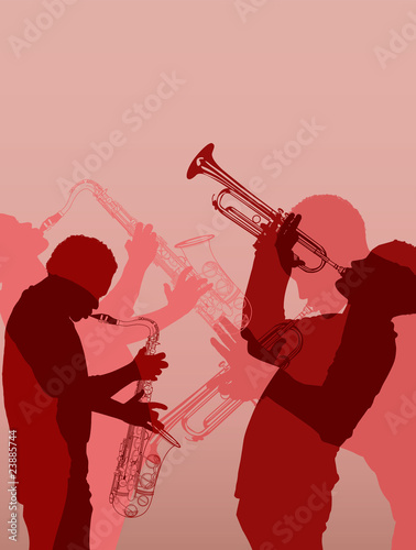 Photo sur Toile Art Studio jazz brass musician