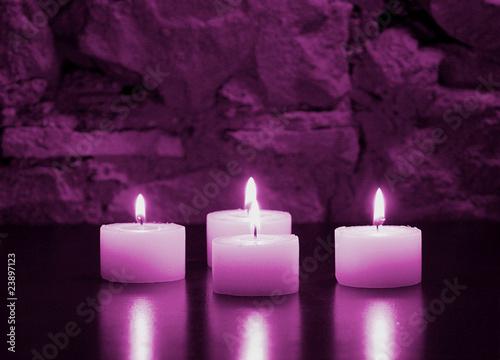 Doppelrollo mit Motiv - brennende Kerzen (von Reicher)