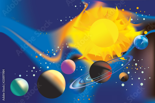 Cadres-photo bureau Cosmos The Solar System