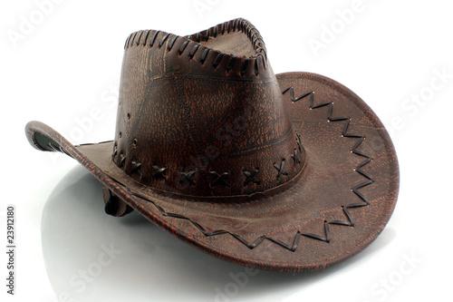 La pose en embrasure Vache cowboy hat