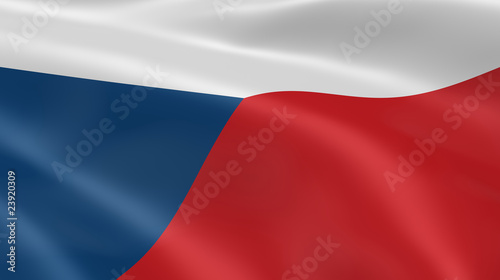 Czech flag in the wind Wallpaper Mural