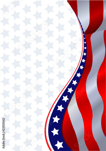 Poster Magie American flag background