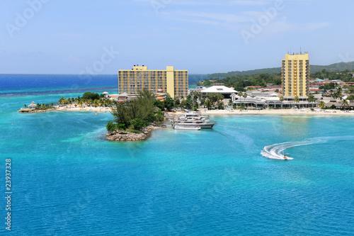 Fotografie, Obraz  Aerial View of Ocho Rios Jamaica