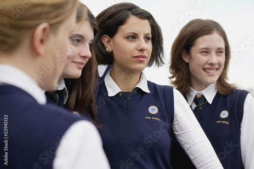 Fotografie, Obraz  Group Of Students In Uniform