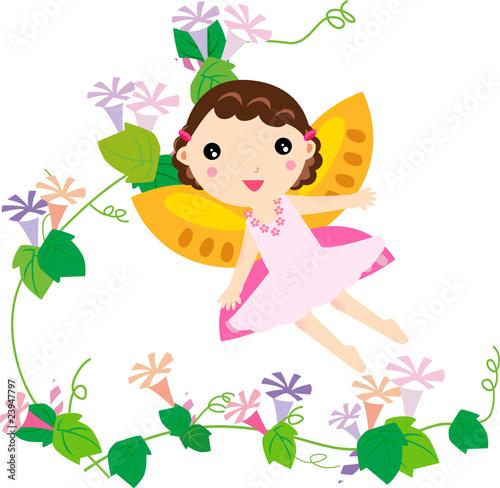 Photo  cute flower fairy