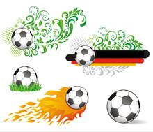 Set Of Soccer Ball.