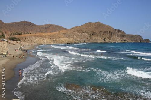 Poster Moyen-Orient Playas del Cabo de Gata. La Islteta del Moro