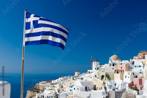 Fotografie, Obraz  Greek Flag