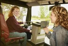 Woman Boards A Public Bus