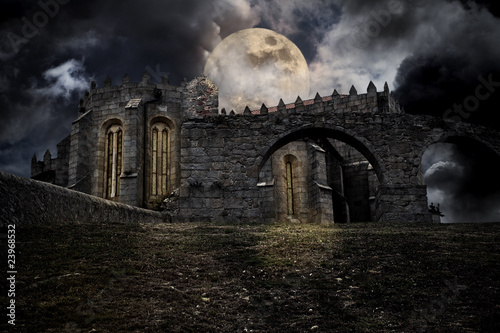 Medieval halloween scenery Wallpaper Mural