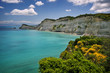 coast near cape drastis on corfu island, greece