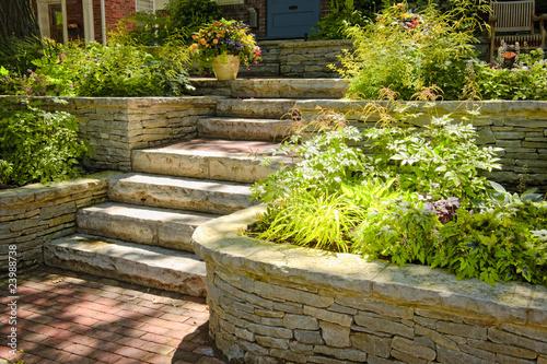 Poster Jardin Natural stone landscaping
