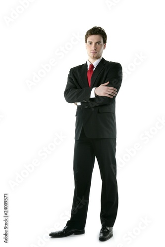 Fotografie, Obraz  full length suit tie businessman posing stand