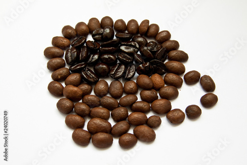 Wall Murals Coffee beans cup of hot coffee