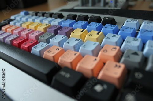 Photo bunte tastatur