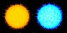 Two Big Vector Stars (yellow A...