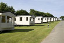 Static Caravans In Camping Site