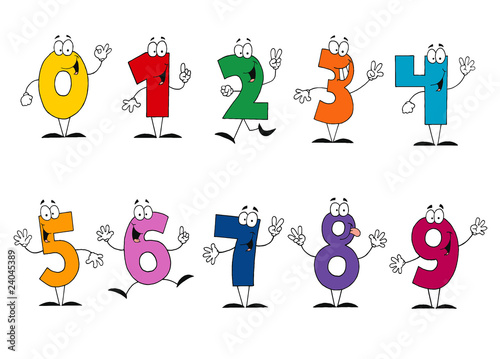 Photo Friendly Cartoon Numbers Set