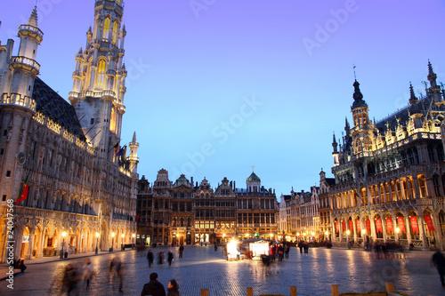 Foto op Canvas Brussel Grande Place Groote Markt Brussels Belgium Europe