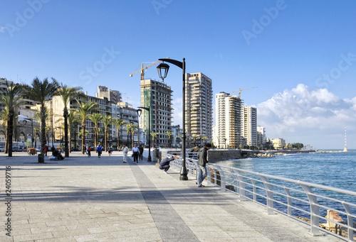 Papel de parede  The Corniche along Beirut's seafront, Lebanon